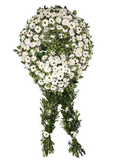 Beyaz Simit Cenaze Çelenk