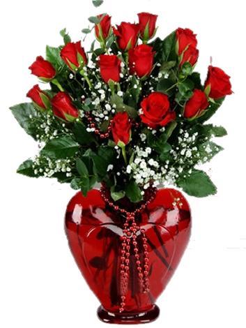Seni Seviyorum Kalp Vazo